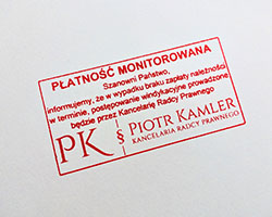 Debt Collection Stamp in Poland